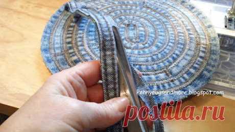 Коврики Penny и больше: учебник джинсовой сумки с плоским швом