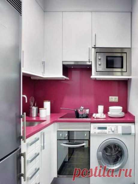 Дизайн маленькой кухни - 44