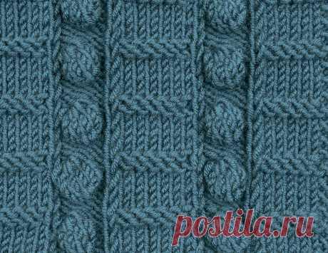 Узор «Чек-лист» - схема вязания спицами. Вяжем Узоры на Verena.ru