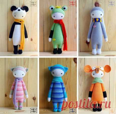 Схема вязания модов для кукол Lalylala: большой сборник МК