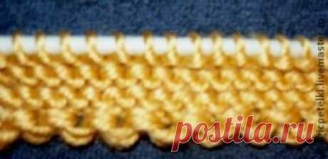 Декоративный набор петель при вязании спицами - Вязание - Моя копилочка