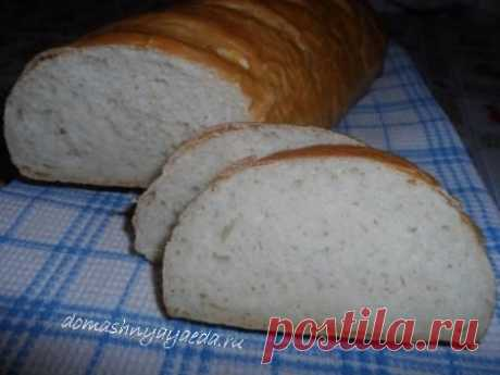 Home-made bread, long loafs on powdered milk