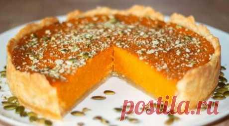 Тыквенный пирог с апельсином — нежный и душистый
