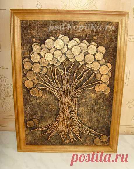Денежное дерево из монет — Сделай сам, идеи для творчества - DIY Ideas
