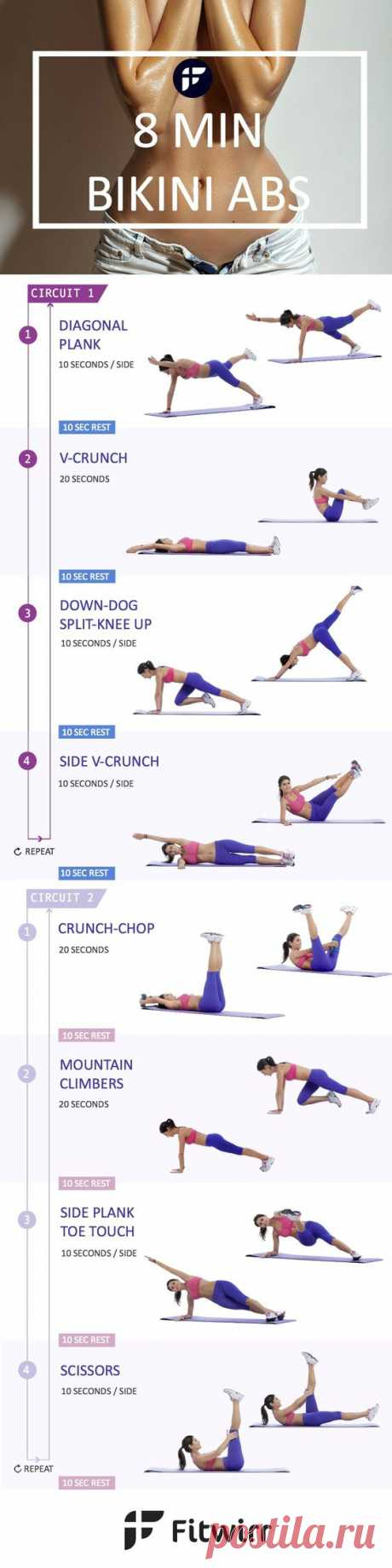 8 Minute Abs Workout to Get Six-Pack Abs [With Images]