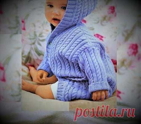 Великолепный детский жакет на пуговицах с капюшоном - удобный и теплый. | Идеи рукоделия | Яндекс Дзен
