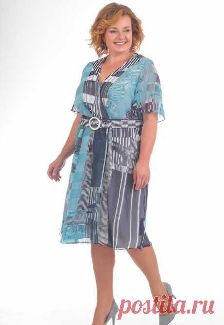 Платье, Pretty, 738 синий Официальный интернет магазин Дама бай