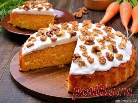 Рецепты приготовления в мультиварке: морковный пирог