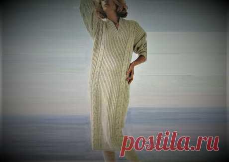 Вязаное платье прямого силуэта | Идеи рукоделия | Яндекс Дзен