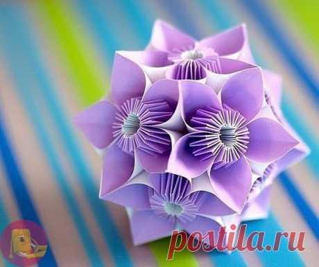 КУСУДАМЫ - ШАРЫ СЧАСТЬЯ  Кусудама – это японская техника модульного оригами. Современные рукодельницы создают целые шедевры из бумажных модулей. Шары, собранные в данной технике прекрасно подчёркивают дизайн интерьера, придают абстрактную загадочность и, конечно же, вызывают интерес.