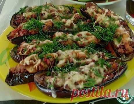Лодочки из баклажанов с фаршем – кулинарный рецепт