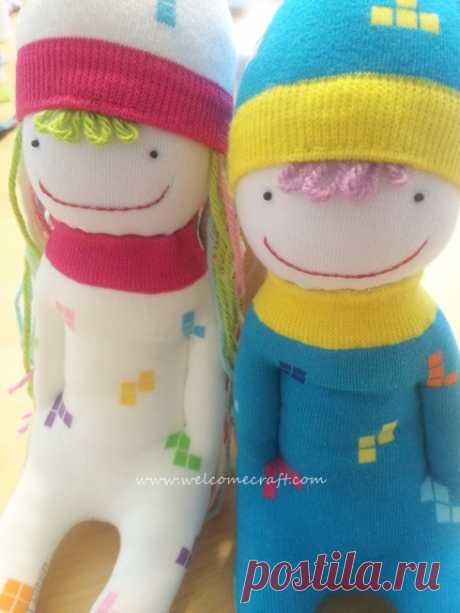 Как сделать куклу из носков - пошаговая инструкция