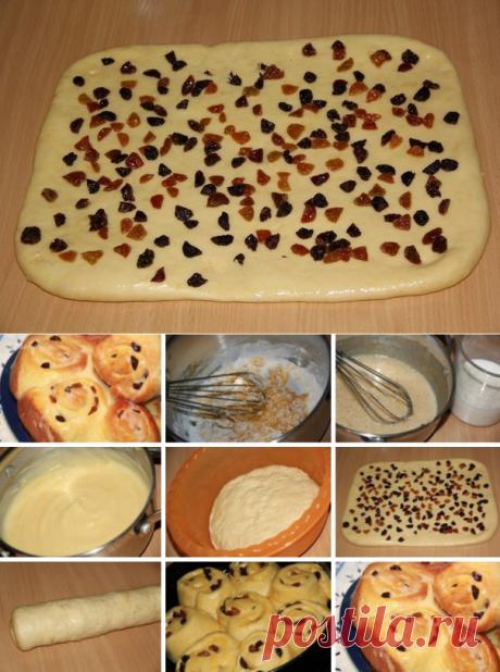 Хочу поделиться рецептом приготовления красивых, вкусных булочек с нежным и сладким кремом «Патисьер»