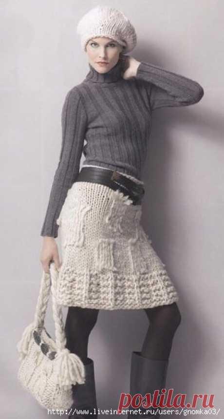 La falda blanca