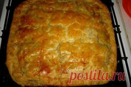 Мясной пирог с заливным тестом