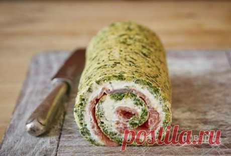 Праздничный закусочный рулет из лосося - пошаговый рецепт с  на Повар.ру