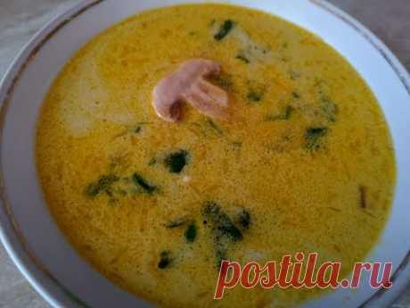 Суп из шампиньонов с плавленым сыром. - YouTube