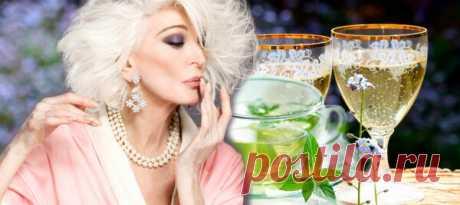 Шампанское с зеленым чаем вместо ботокса