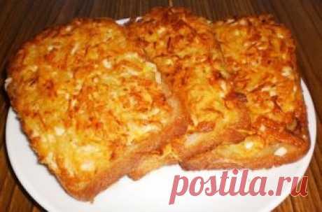 гренки с картошкой и сыром