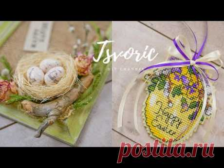 ИДЕИ Пасхального декора / Переделка старой рамки для фото / DIY TSVORIC