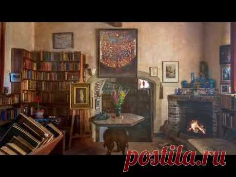 Ambience/ASMR: Writer's Library from the 1930s, 4 Hours