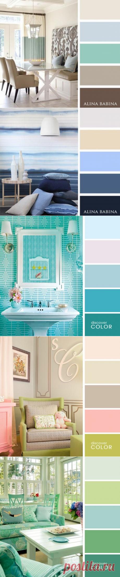 Шпаргалка: идеальные цветовые сочетания в интерьере — Мой дом