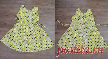 Платье простого кроя из трикотажа #Схемы_выкроек на размеры с 36 по 56 в файле PDF Vestido Evasê fácil de fazer