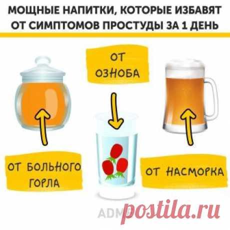 Facebook  Мощные напитки, которые избавят от симптомов простуды за 1 день: