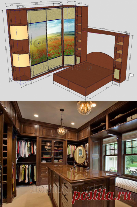 Photos wardrobe to order from the company house Furniture