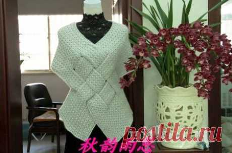 Жилет спицами с плетеным узором » Ниткой - вязаные вещи для вашего дома, вязание крючком, вязание спицами, схемы вязания