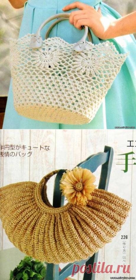 вязаные сумки - Модели со схемами и узорами - Страница 193 - Форум