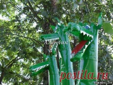 Нові вироби - змій гірничо - з пластикових пляшок - вироби для саду - вироби для саду,