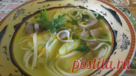 Грибной суп с вермишелью | ПП рецепты на каждый день