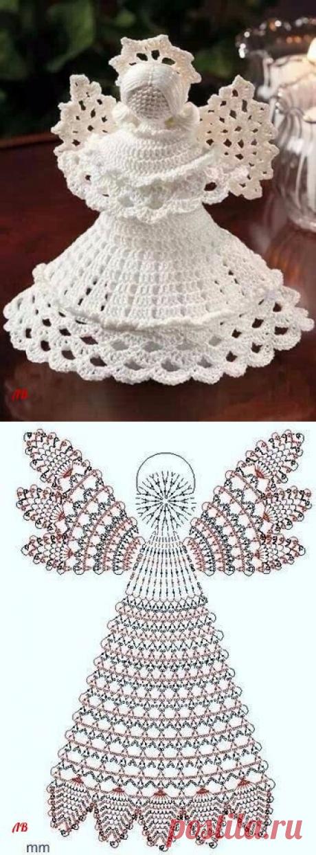 Вяжем объемного ангелочка, у вас есть опыт вязания таких украшений?