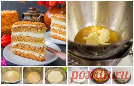 Торт медовик с лимонным кремом
