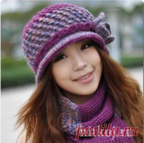 Зимняя шапка крючком » Ниткой - вязаные вещи для вашего дома, вязание крючком, вязание спицами, схемы вязания