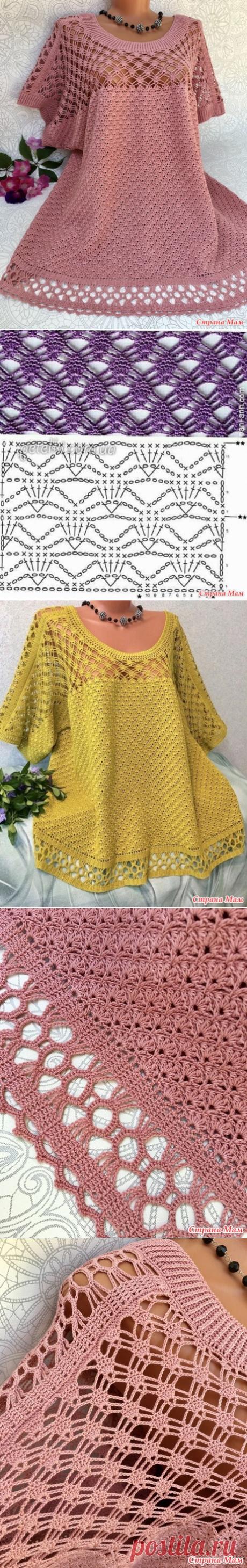Блузоны для крупных дам крючком - Вязание - Страна Мам