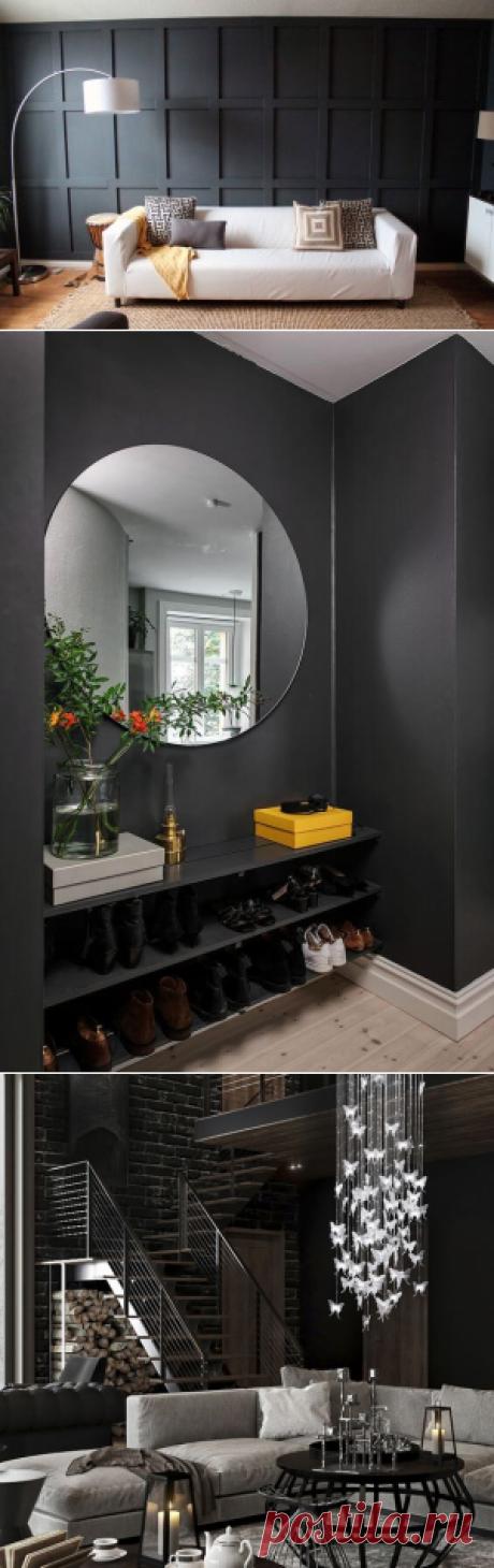 Черный цвет в интерьере: 46 идей оформления ~ ALL-DEKOR.RU