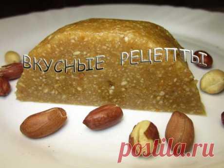 Арахисовая халва - пошаговый рецепт с фото   Вкусные рецепты