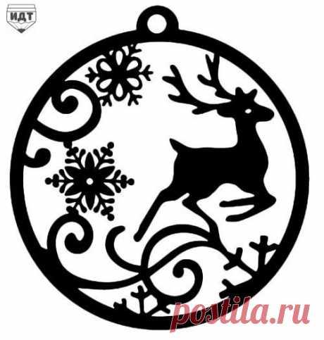"""Запись на стене Вытынанки на окна """"Новогодний олень"""""""