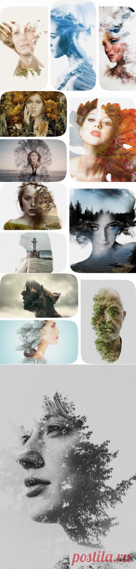 Коллекция «Картины с двойной экспозицией.» пользователя Елена Н. в Яндекс.Коллекциях
