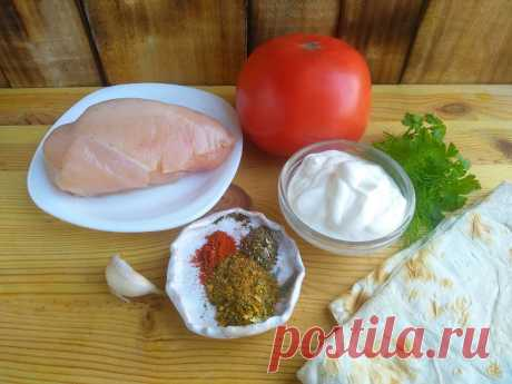 Курица в лаваше в духовке: рецепт с фото пошагово