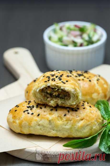 Бездрожжевые пирожки с мясом в духовке — рецепт с фото на Русском, шаг за шагом. Очень вкусные рассыпчатые пирожки, которые понравятся всем.