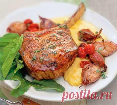 Как приготовить свиные котлеты на косточке на сковороде