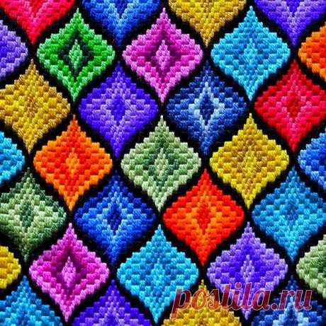 Великолепная вышивка Барджелло или флорентийская. Мастер-класс, идеи и схемы