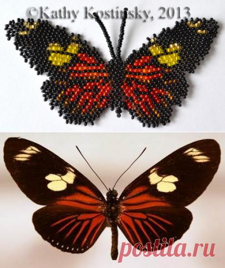 Геликонида дорис. Бисерная коллекция 63 бабочки мира