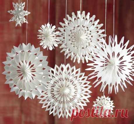 Креативные снежинки - запись пользователя Зоя (Михална) в сообществе Работа с бумагой в категории Другие поделки из бумаги и картона Украсим дом к Новому году!