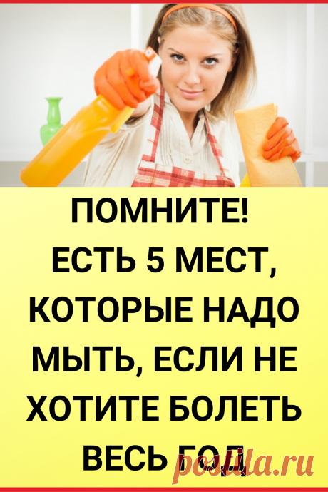 Помните! Есть 5 мест, которые надо мыть, если не хотите болеть весь год