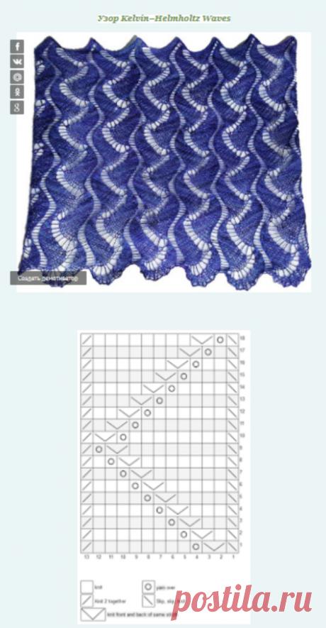 Три узора для вязания шарфа или снуда