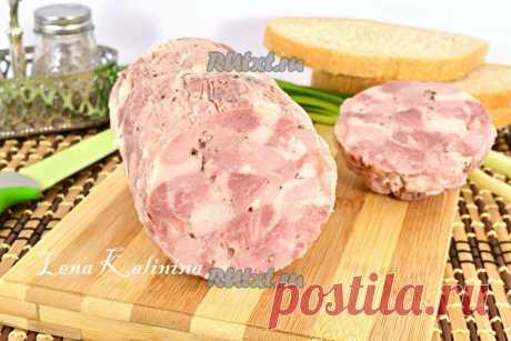 Ветчина рубленая из свинины и курицы - рецепт с фото